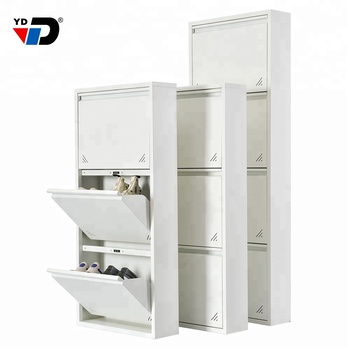 multi-layermodern factory  large furniture rack storage shelves can be fixed to the wall steel small size metal shoe cabinet