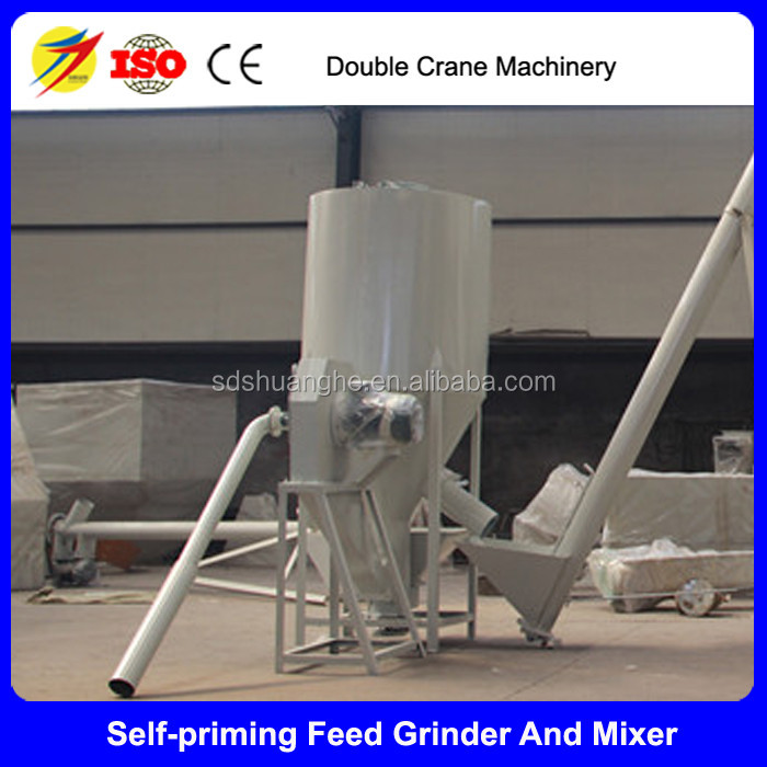 Poultry feed grinder and mixer , Powder feed making machine combined unit