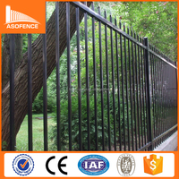 Anping factory cheap spear top security gates and steel fence design