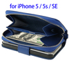 New Products 2016 Zipper Wallet Leather Case for iPhone SE, Phone Case Wallet Cover Bag for iPhone SE