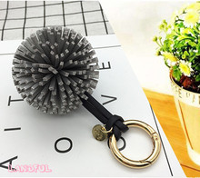 Hot Sale Fashion Leather Tassel Keychain Bag Charm Custom Promotion Key Chain For Gift