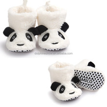 Adorable Infant Kids Baby Animal Shoes Socks Custom OEM Soft Soles Newborn Cute Plush Panda Teddy Bear Safety Baby Shoe