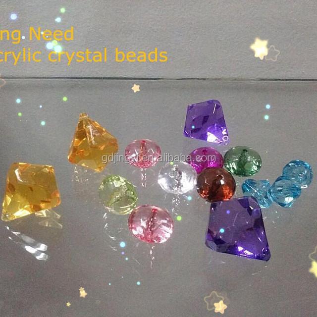 plastic artificial acrylic crystal diamond bead lucite bead gemstone bead