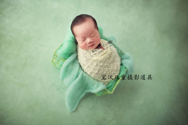 Fashion design newborn stretch knit wraps baby swaddle with ball baby photography props