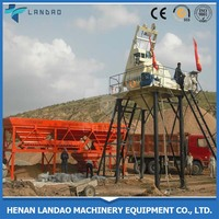 High Efficiency HZS50 stationary concrete batch plants concrete mixing station price