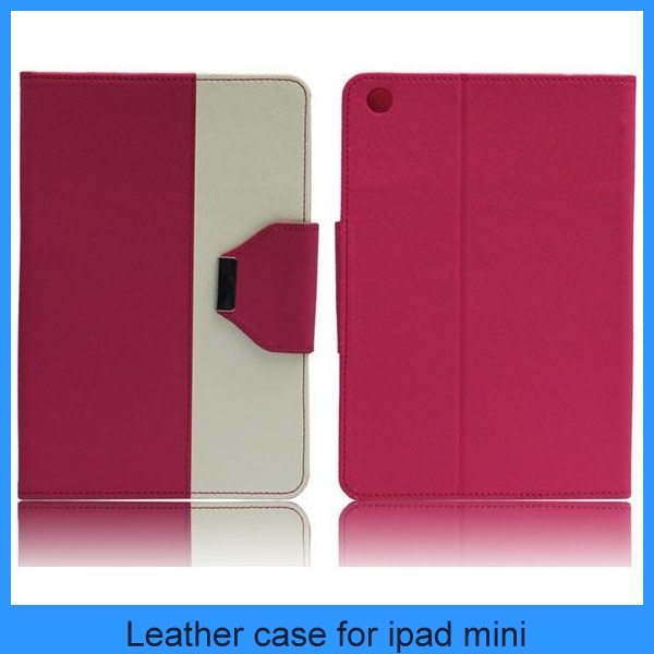 Super Thin Colorful Shockproof Wallet Card Hybrid Leather Smart Case For ipad mini with sleep/awake (PT-IPM208)