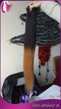 "Hotsale Straight Virgin Vietnamese Human Hair 20"" Two Tone Colors 1b/Light Brown Ombre Hair Extensions from Sarahair"