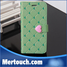 flip leather cover case for iphone 5 5s with cute love button new design hot selling in Aliexpress