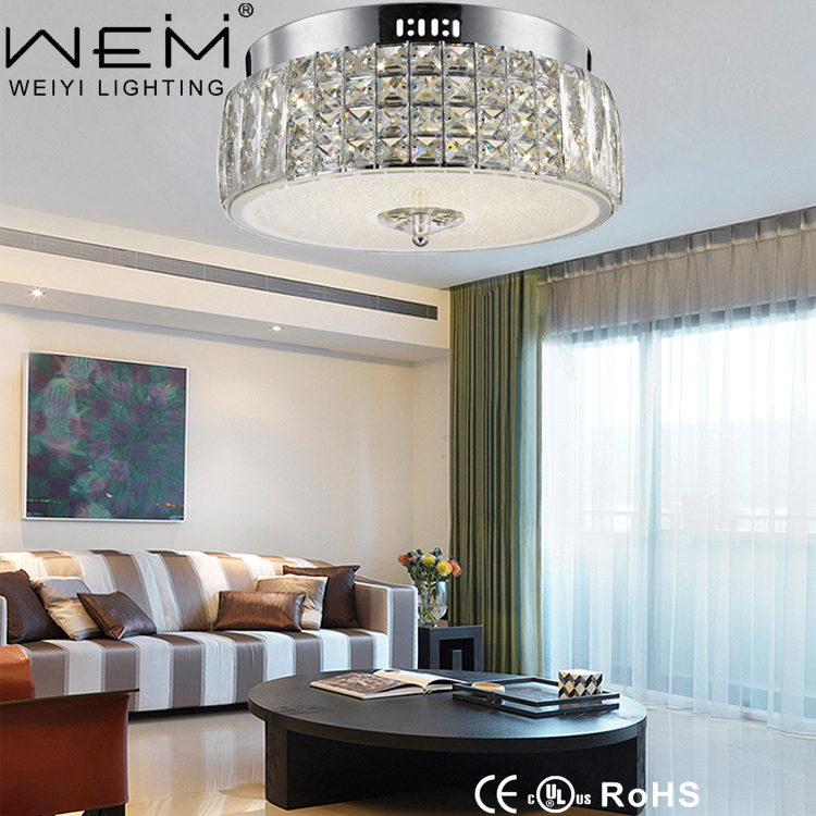 Weiyi Lighting New Product Unique Modern Ceiling Light Round 24W Crystal Ceiling Lamp LED Light