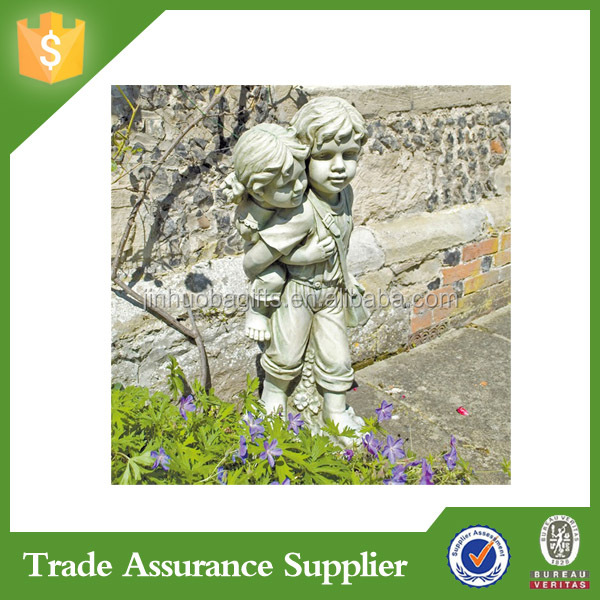 Polyresin Decorative Garden Decoration Winged Guardian Angel Statue