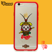 PUZOO New conference Monkey King handphone case Ultra thin Soft Clear Tpu Phone Case For iPhone 6 6S