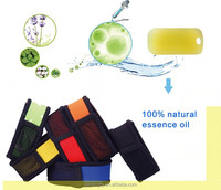 Eco-friendly Neoprene sports mosquito repellent wristband with refills for Gift