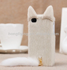 White 3D Lovely cover for iphone 5