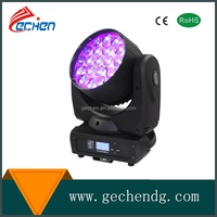 Hot sell 19*12w bee eye led moving head wash beam light 4in1 with DMX CE Rohs