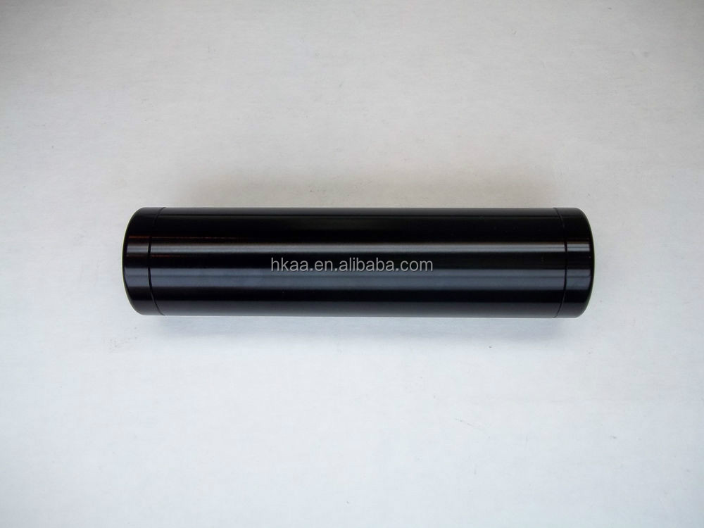 Aluminum Tube with Threaded End Cap Adapter Anodized Black