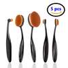 Logo Branding Oval Makeup Brush, Cosmetic Makeup Brushes Set of 5