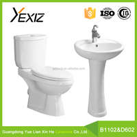 B1102 & D601European Standard Bathroom Porcelain Two Piece Toilet Of Sanitary Ware