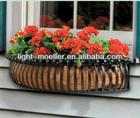 wrought iron flower window box