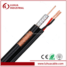 coaxial cables RG6 with power wires cable with CE ISO90001,RoHs certification