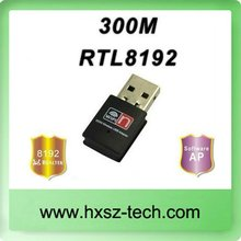 300Mbps Realtek RTL8192 Chipset Mini WIFI USB Adapter/ wireless lan card/ Wifi dongle