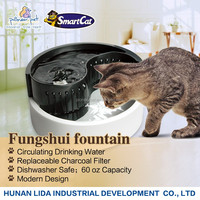 2016 new pet products Plastic pet fountain- automatic feeder for dog