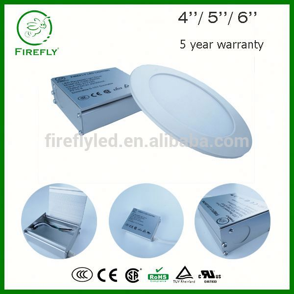 Dimmable Nickel Trim round led panel light junction box with fast growing market