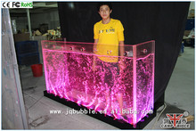 Modern acrylic led lighted water features coffee shop counter design