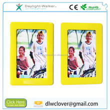 Fashion funny kids pvc crystal waterproof photo frame magnetic ,cheap 6inch picture photo wall frame 6 inch