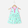 Newest design Mom and bab 2017 fashion baby clothes girls dress wholesale price China