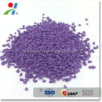 colored rubber EPDM granules for synthetic running track and soft play areas