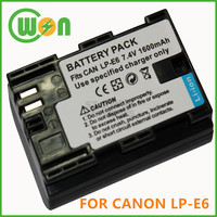 LP-E6 LPE6 Camera Battery for Canon 6D 5D Mark III 5D Mark II 7D 60D