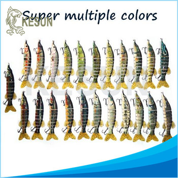 "2016 new hot sale Jointed swimbait pike lure super multiple colors to choose Kesun lure CH8J02F 8"" 75g"