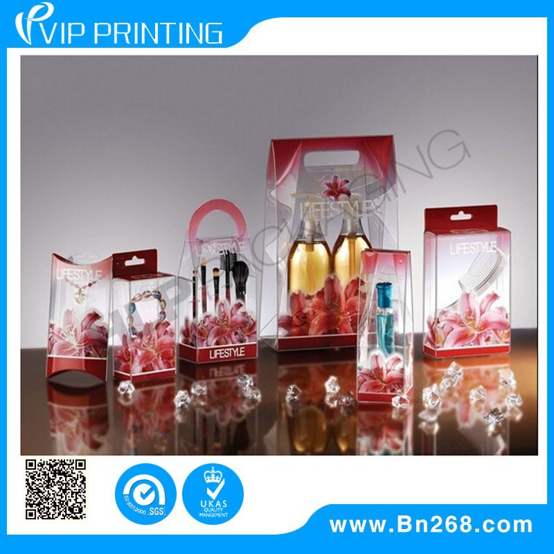 Customized Luxury Skin Care Cosmetic Transparent Plastic Packaging Box