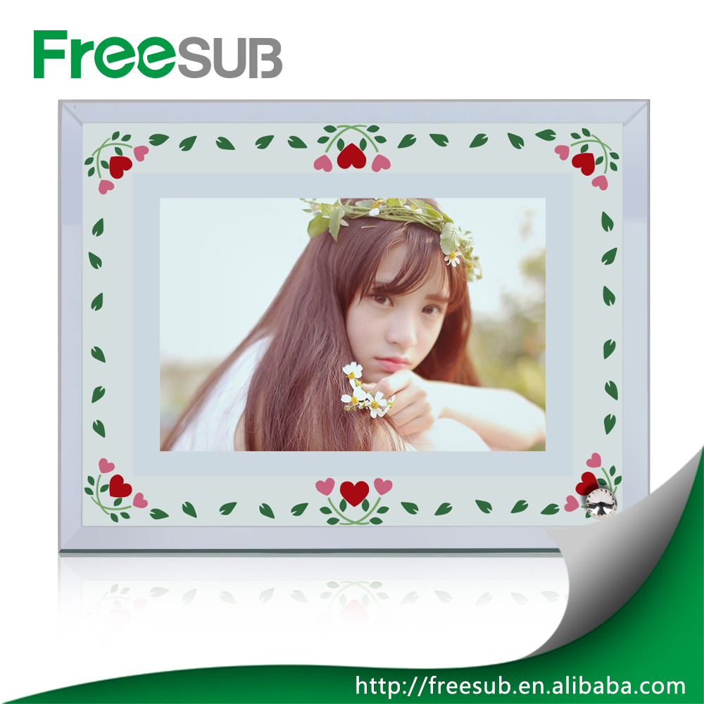 High Quality Sublimation Blank Glass Photo Frame for Decoration