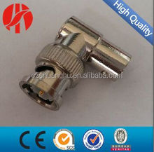 Right angle BNC male to female adaptor connector for CCTV Camera