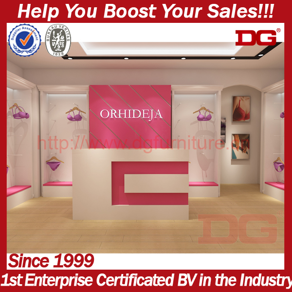 High end modern clothing lingerie store display furniture
