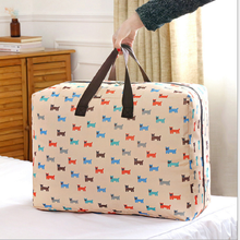 custom cheap waterproof oxford washable folding quilt storage bag luggage organizer moving bag