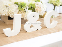 Wooden Letters - Freestanding Wedding Sign Initial Signs - Personalized Table Signs - Initials 2 Letters and Ampersand