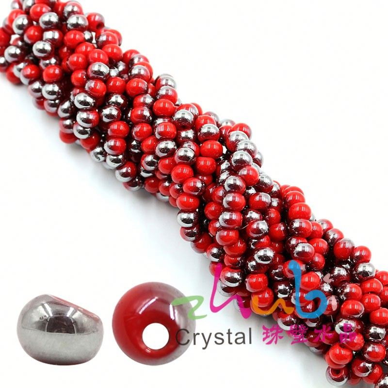 6MM edge <strong>hole</strong> round glass beads curtain hanging decoration