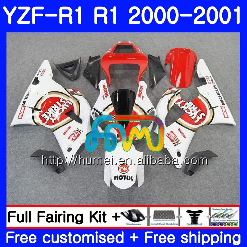 Body For YAMAHA Lucky red YZF R 1 YZF 1000 YZF-<strong>R1</strong> 00-01 Bodywork 98HM23 YZF1000 YZF-1000 YZF <strong>R1</strong> 00 01 YZFR1 2000 <strong>2001</strong> <strong>Fairing</strong>