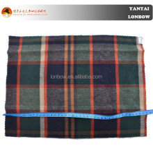Plaid woven wool fabric for winter overcoat 600g/m