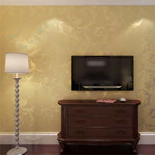 Gold removable luxury wallpaper for the hotel