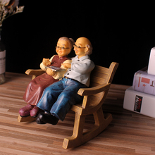 Parents Gifts home decoration accessories Resin old couple Figurines for home Grandma Love Grandpa