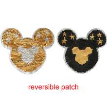 fashion kids design cartoon patter applique reversible sequin embroidery patch sew on cloth