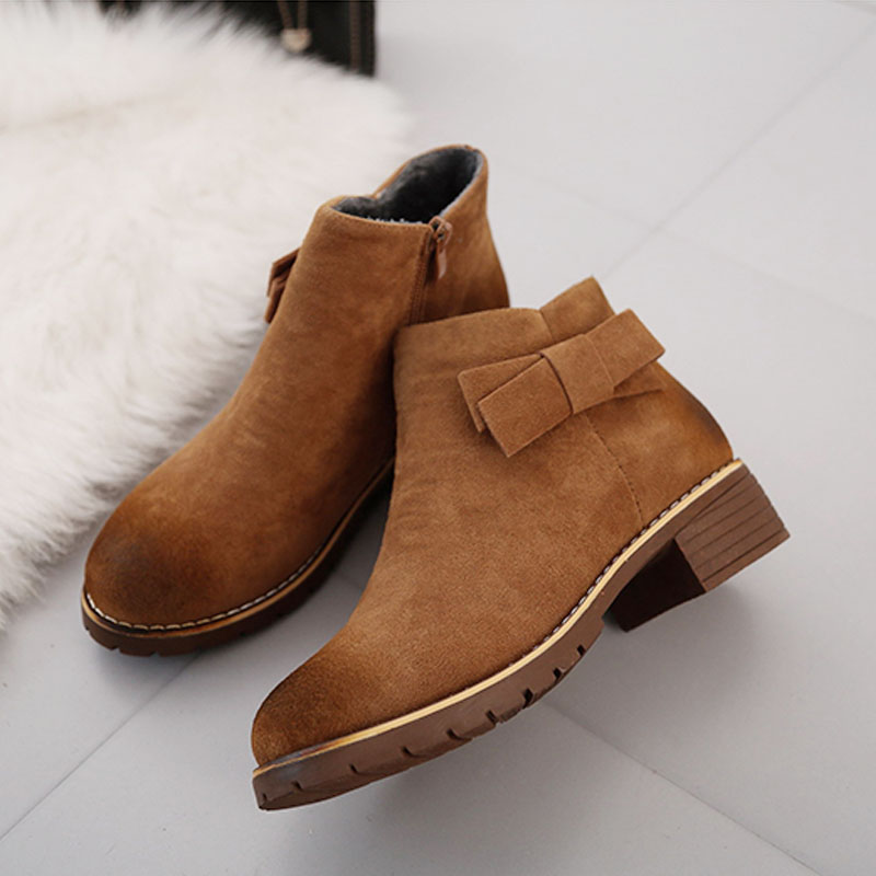 2017 Winter Shoes Women Winter <strong>Boots</strong> Sweet Bowknot Fashion Women's <strong>Boots</strong> Ladies Brand Ankle Botas Warm Plush for Winter ZH1559