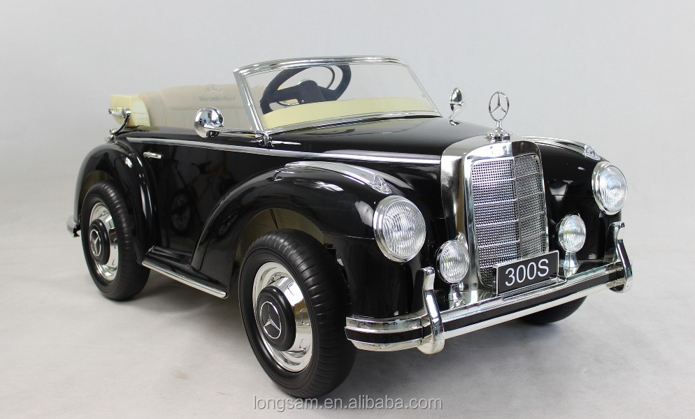 Kids toy car old classic mercedes licensed ride on buy for Buy old mercedes benz