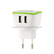 New Launching 5V/3.4A micro usb wall charger for UK/EU/US plug portable battery charger
