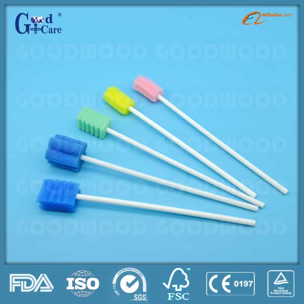disposable oral care sponge swab