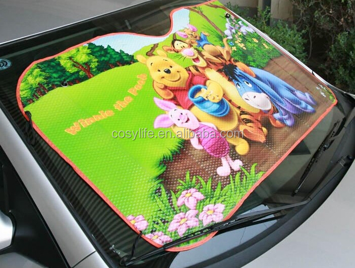 Cosylife cartoon design car sunshade before the sun heat insulation screen Sun automobile protective barrier