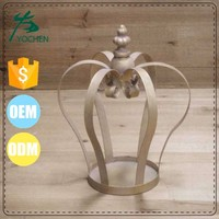 chic shabby metal candle holder crown